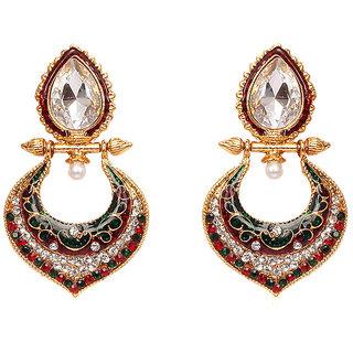 Subh Peacock Alloy Dangle Earring - 5020938