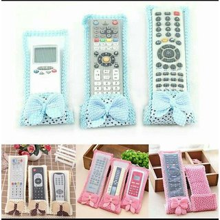 Digital Setup Box, Television  A/C Remote Covers Set Of 3 (Color as per availability)