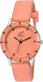 PIRASO Fashiontrack Analog Watch For Women- Pink