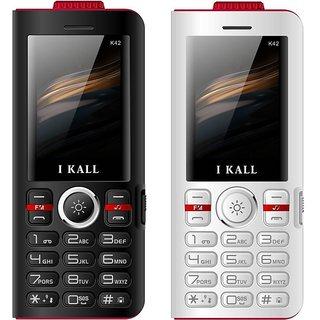 Set Of 2 New IKall K42 8000mah Triple SIM Mobile POWERBANK DEVICE (No Earphones)