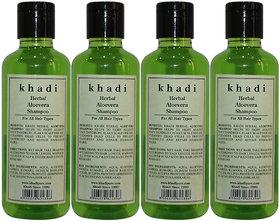 Khadi Herbal Aloevera Shampoo - 210ml (Set of 4)