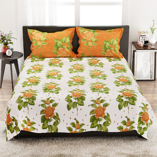 STELLAR HOME LILLY BED LINEN QUEEN - 8100052 MUTLI Double Bed Sheet With 2 Pillow Covers