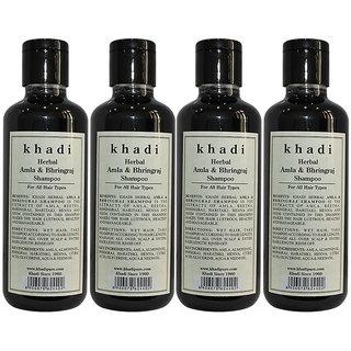 Khadi Herbal Amla  Bhringraj Shampoo - 210ml (Set of 4)