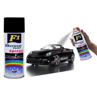 F1 Aerosol Black Spray Paint For Multipurpose(Car Bike Cycle etc.)