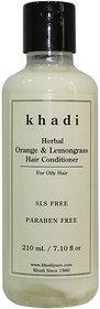 Khadi Herbal Orange  Lemongrass Hair Conditioner SLS-Paraben Free - 210ml