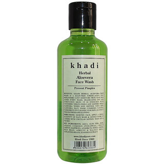 Khadi Herbal Aloevera Face Wash- 210 ml
