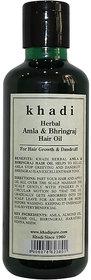 Khadi Herbal Amla  Bhringraj Hair Oil - 210ml