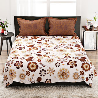 STELLAR HOME LILLY BED LINEN QUEEN - 8100031 MUTLI Double Bed Sheet With 2 Pillow Covers