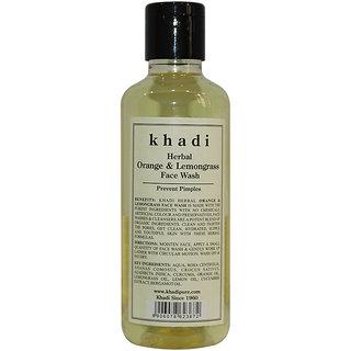 Khadi Pure Herbal Orange & Lemongrass Face Wash - 210ml