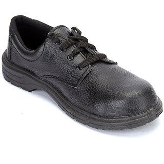HILLSON Leather Black Formal Shoe for Men