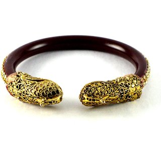 Striking bangles kara colour maroon