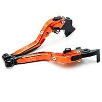 Adjustable 6 Steps Brake and Clutch Levers for KTM Bikes - Orange