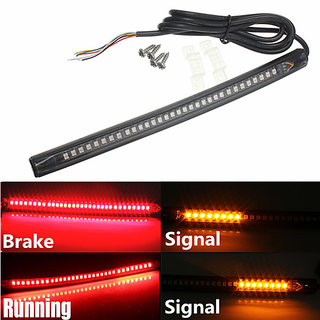 Buy motorcycle bike atv universal flexible led strip tail light motorcycle bike atv universal flexible led strip tail light brake light with turn signal aloadofball Image collections