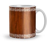 Earnam Beautiful 320ml Ceramic Printed mug Gift For mother Gift For lover girl Coffee mugs for gift