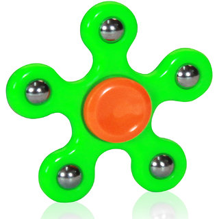 Fidget Hand Spinner With 5 Arms More Power Assroted Colour 1Pc 45-90 Sec Spinning Time