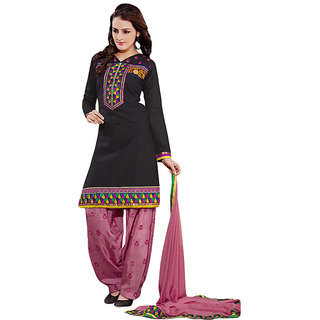 Sinina Chanderi Cotton Patiala Salwar Kameez Suit Unstitched Dress Material6PHV6007
