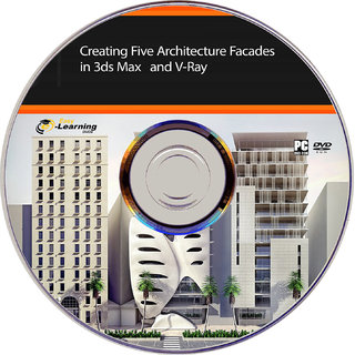 Learn Creating Five Architecture Facades in 3ds Max and V-Ray Video  training DVD
