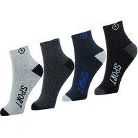 Neska Moda Premium Men 4 Pairs Terry Cotton Ankle Length Socks Multicolor S661