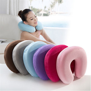 Neck Rest Travel Pillow Pack of 1 (Multicolour, Assorted)