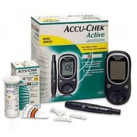 Accu check Active Glucometer with 10 strips free