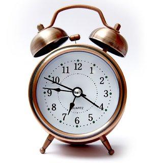 buy vintage look table alarm clock with night led display light