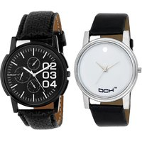 DCH NW-23 Pack Of 2 Stylish Designed Analogue Wrist Wat