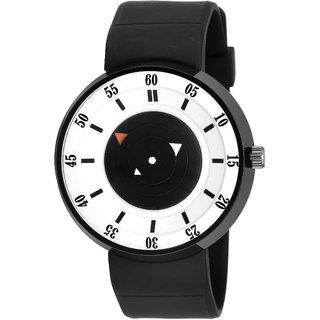 Adamo Black Silicone Round Analog Watch for Men