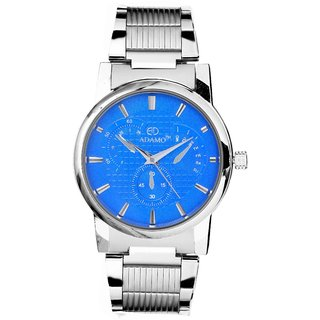 Adamo Silver Metal Round Analog Watch for Men