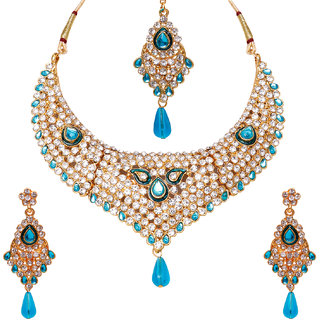 Penny Jewels Antique Party Wear  Wedding Simple Designer Comfy Stylish Necklace Set For Women  Girls