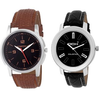 DCH NW-19 Pack of 2 Stylish Designed Analogue Wrist Watches For Men And Boys