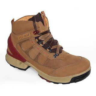 RED CHIEF Leather Rust Boots for Men