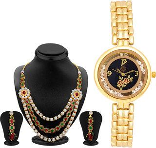 Shostopper Vintage Collection Combo Of Necklace Set  Watch SJ242CB