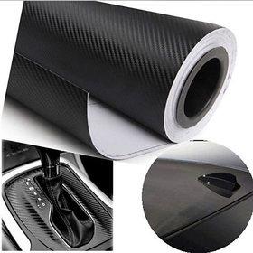 24x50 3D Black Carbon Fiber Vinyl Car Wrap Sheet Roll Film Sticker Decal
