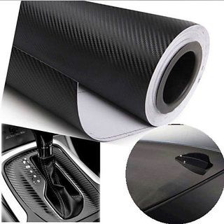 24x50 3D Black Carbon Fiber Vinyl Car Wrap Sheet Roll Film Sticker Decal