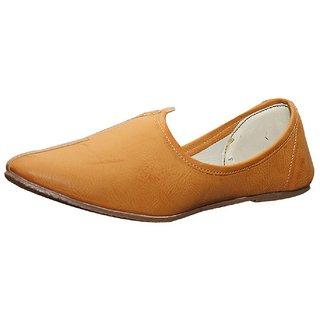 Port Men's Jalsa Camal Leather Punjabi Jutti