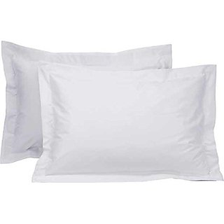 Pillow Covers 100 Cotton In white plain(Set of 2)