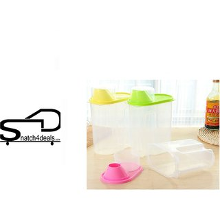 s4d (Set Of 1) 2.5L Plastic Food Grain Candy Storage Box Containers Plastic Kitchen Food Cereal Storage Dispenser Rice C