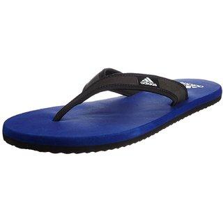 Adidas Men's Adi Rio Dark Blue  Black and White Flip-Flops