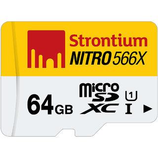 Strontium Nitro 64GB-566X Uhs1 85Mb/S  1 In 1 Single Packing
