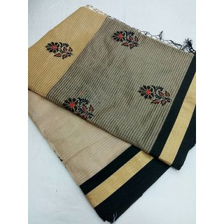 Hand Made only Multicolor Art Silk Self Design Saree With Blouse