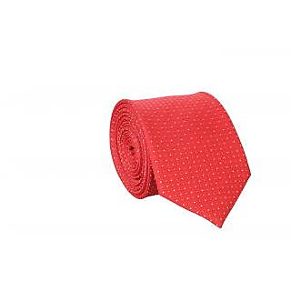 Bombay High Orange Polka Dots Polyester Necktie