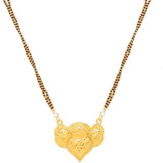 Memoir Brass Gold plated Big Mangalsutra for women