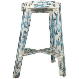 Buy Lalji Handicrafts Multi Color Wooden Vintage Bar Chairs Online