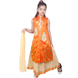 566195cc7b Buy Kbkidswear Girl S Embellished Party Wear Lehenga Choli And Dupatta Set  Online - Get 84% Off
