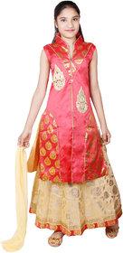 Kbkidswear Girl'S Embellished Party Wear Lehenga Choli And Dupatta Set