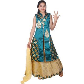 5aa2da8ef5 Kbkidswear Girl S Embellished Party Wear Lehenga Choli And Dupatta Set