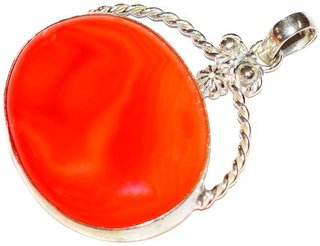 Winkle Red Onyx Alloy Pendant for Girls  Women