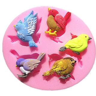 Futaba 5 Cute Bird Chocolate Silicone Mold