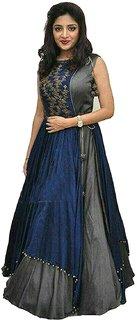 Dharma Fabrics Designer Gown Dress Material