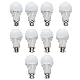 12w-10pcs 12 Watt Led Bulb (Pack Of 10)(White)